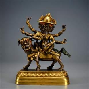 A Gilt-bronze Palden Lhamo Qing Dynasty
