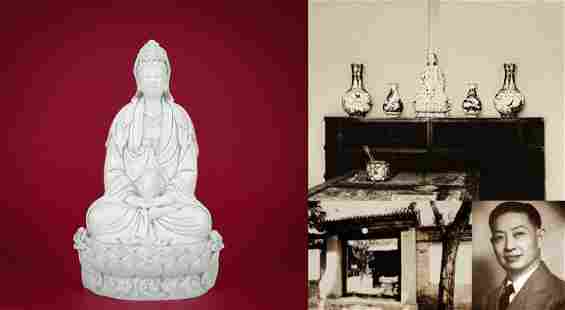 A Blanc-de-Chine Seated Guanyin Ming Dynasty