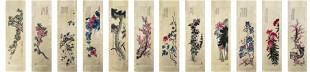 A Set of Twelve Hanging Scroll of Chinese Painting