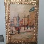 Vincent Van Gogh oil on canvas painting signed & stampe