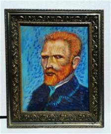 Vincent Van Gogh oil on canvas painting signed