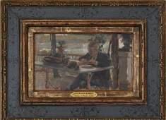 John Singer Sargent, Oil On Panel, Portrait of Ralph