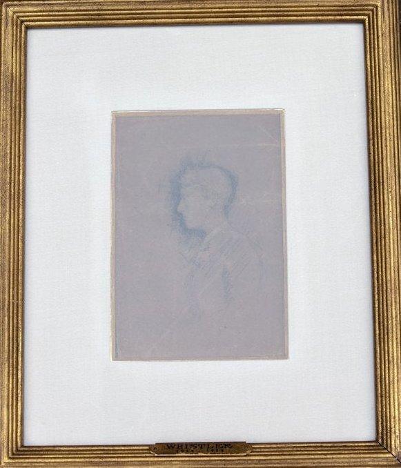 James Abbott McNeil Whistler, Pencil On Brown Paper,