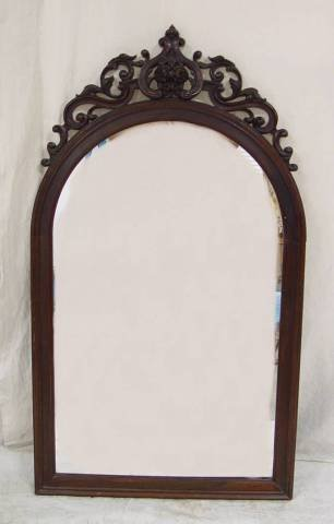 """22: VICTORIAN ROSEWOOD MIRROR 49"""" TALL 28"""" WIDE"""