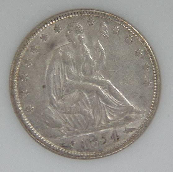 610: SEATED HALF DOLLAR 1854