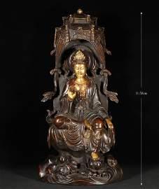 Bronze Gilt Bodhisattva Qing Style