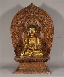 Bronze Gilt Seated Buddha Ming Style