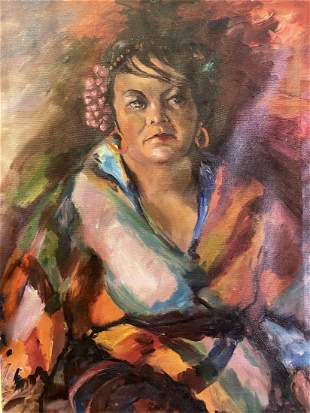 E Zachara Oil painting