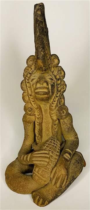 Pre-Columbian Mayan Carved Figure