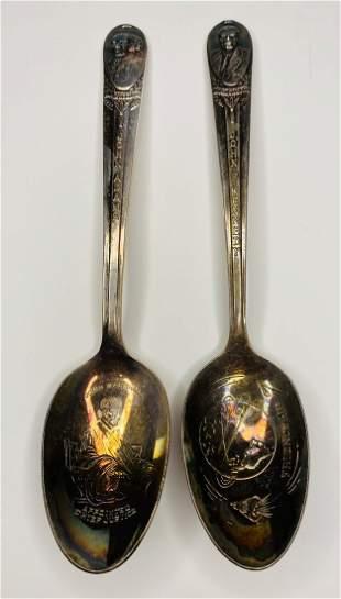 Vintage John Adams & John F. Kennedy Spoons