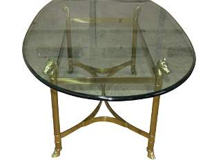 Brass Horse Head Coffee Table