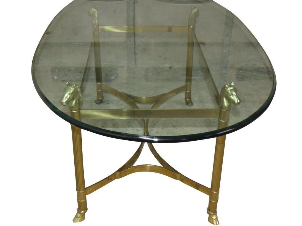 Brass Horse Head Coffee Table