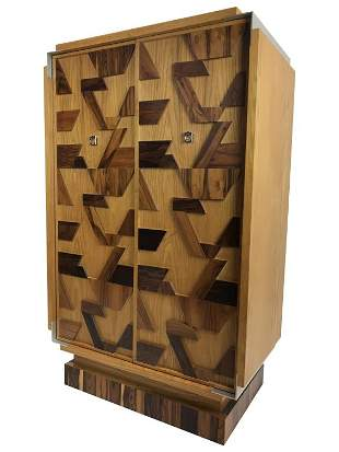 Brutalist Mixed Wood Chifferobe