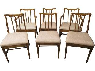 Sculpted Set 6 MCM Dining Chairs