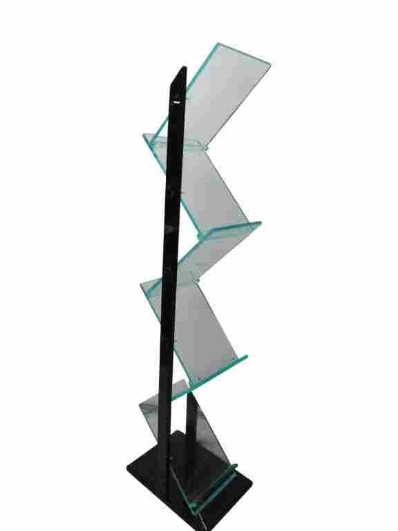 Lucite 6 Shelf Display Rack Holder