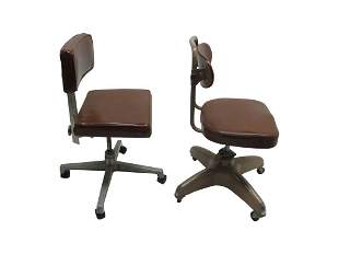 2 Industrial Style Swivel Chairs