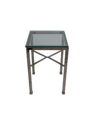 Chrome & Glass Table