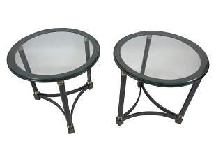 Pair DIA Metal Side Tables