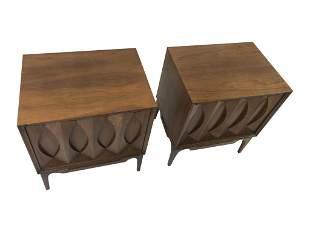 Pair Sculpted Nightstands