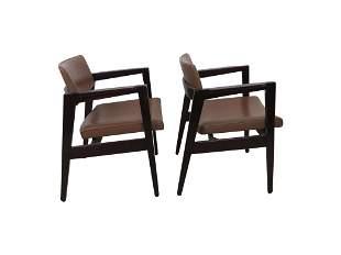 Pair Gunlocke Lounge arm Chairs