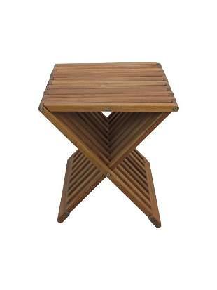 Teak Folding Stool Seat