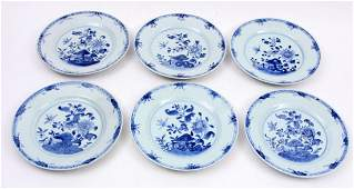 6 Chinese porcelain plates