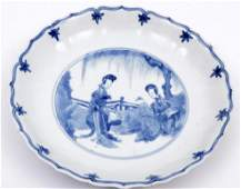 Blue and white Chinese porcelain plate 18th century