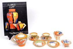 Clarice Cliff, Art Deco service set consisting of a