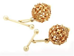 2 Openwork 14k gold cufflinks, 10 grams