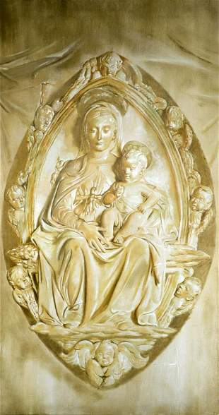 Paul Vincent Boelens, Virgin and Child, oil on canvas,