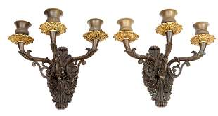 Set of two Empire wall sconces