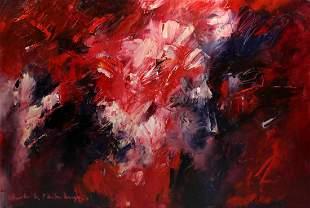 Charlotte Molenkamp, Tilburg 1955, Composition in red,