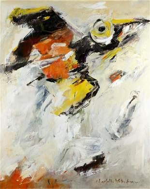 Charlotte Molenkamp, Tilburg 1955, Bird, oil on canvas,