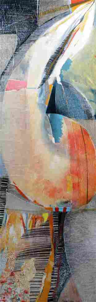 Sikko Mulder, Sneek 1955, Abstract, collage in mixed