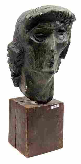 Charles Eyck 1897 - 1983, unsigned, green patinated