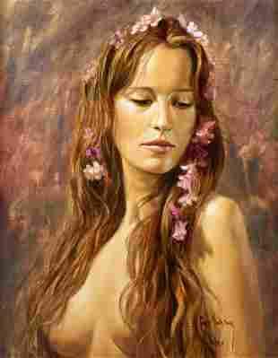 Sergio Martinez (Chilean, 1966), Flores en el cabello,