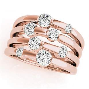 0.51 Carat Diamond Engagement 14K Rose Gold Right Hand