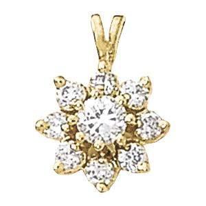 0.97 Carat Diamond Engagement 14K White Gold Cluster