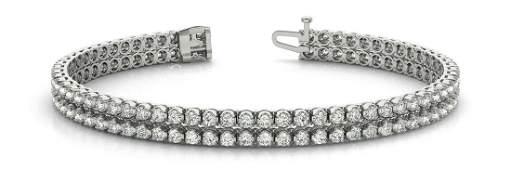 1.86 Carat Diamond Engagement 14K White Gold Bracelet