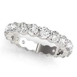 2.30 Carat Diamond Engagement 14K White Gold Eternity