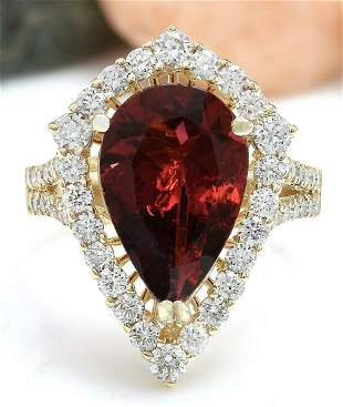 5.93 CTW Natural Tourmaline 14K Solid Yellow Gold