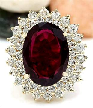 8.32 CTW Natural Tourmaline 14K Solid Yellow Gold