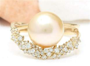 3.48 mm Gold South Sea Pearl 18K Solid Yellow Gold