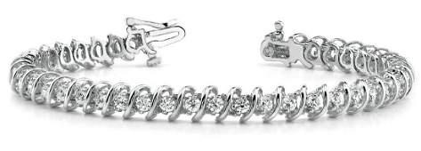 5.04 Carat Diamond Engagement 14K White Gold Bracelet
