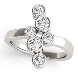1 Carat Diamond Engagement 14K White Gold Right Hand