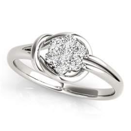 0.25 Carat Diamond Engagement 14K White Gold Love Knot