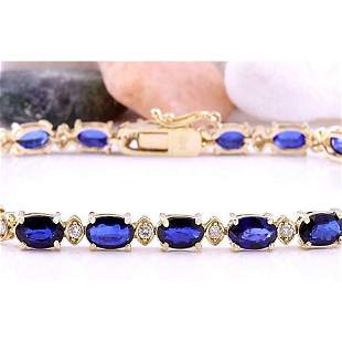 16.97 CTW Natural Sapphire 14K Solid Yellow Gold