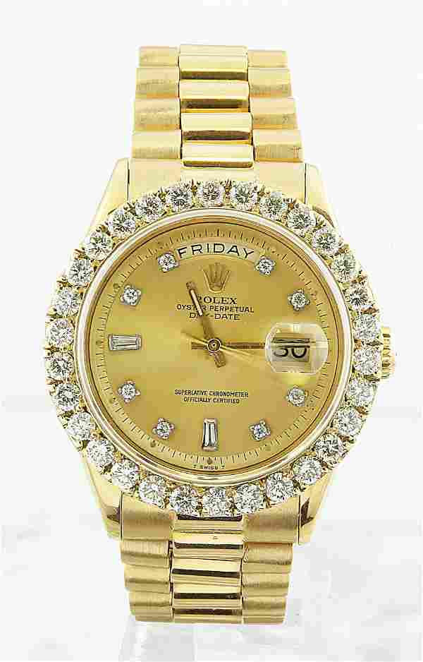 Authentic Pre-owned Rolex Oyster Perpetual Day-Date 18K