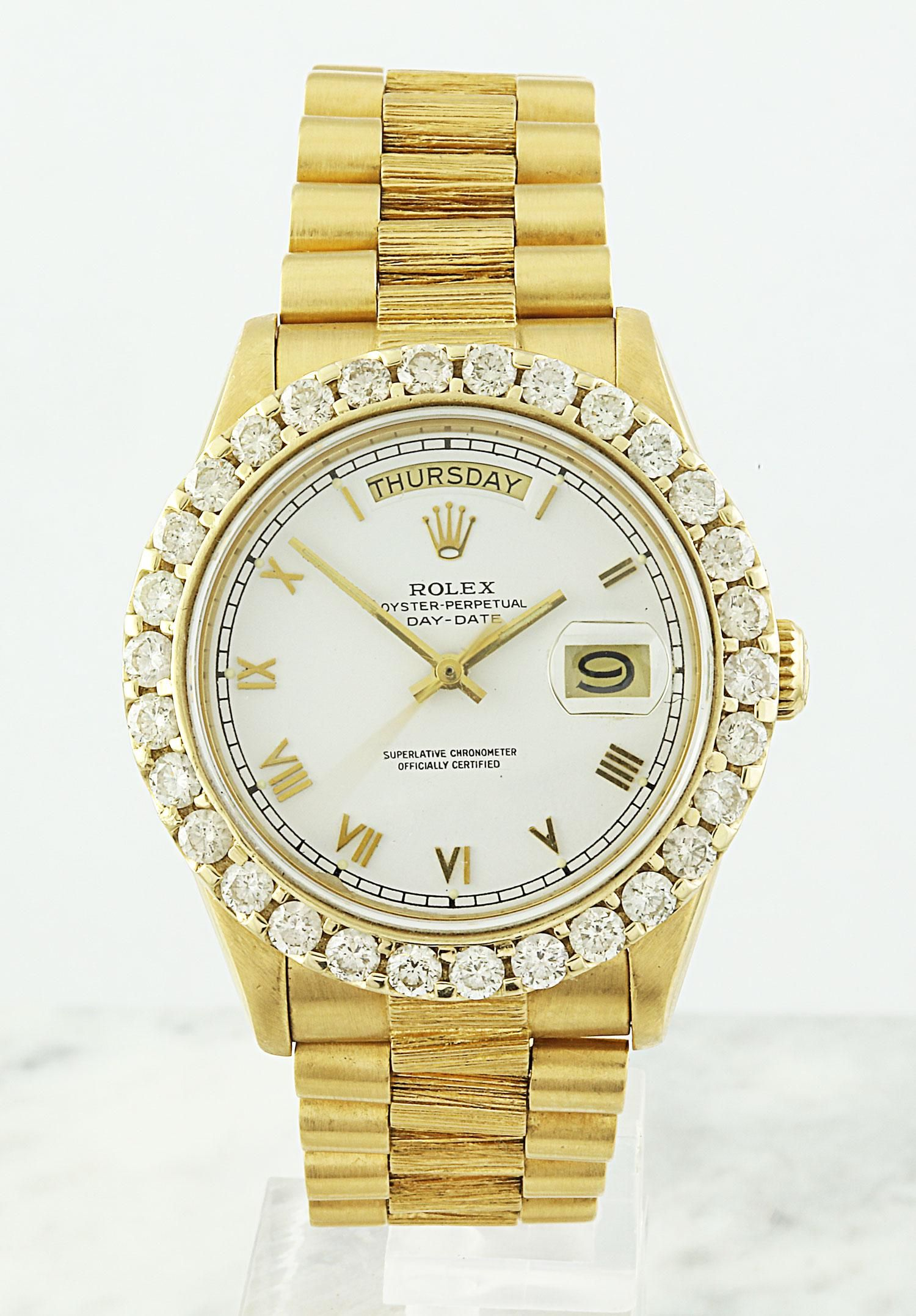 Authentic Pre-owned Rolex Perpetual Day-Date 18K Yellow
