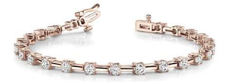 4.94 Carat Diamond Engagement 14K Rose Gold Bracelet